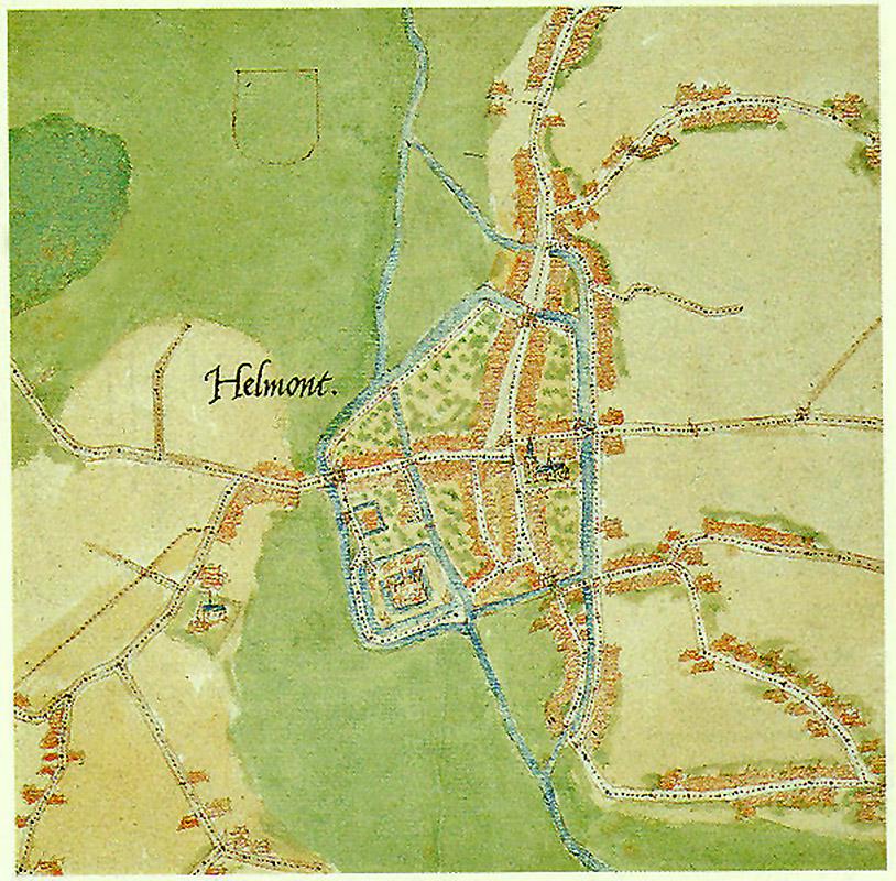 De middeleeuwse stad Helmont